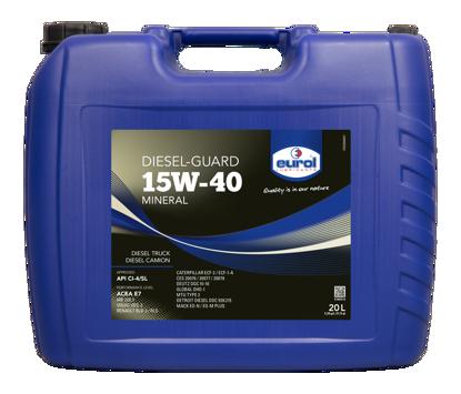 EUROL Diesel-Guard 15W40  mineral bazlı SHPD Motor Yağı  (E100112-20L) resmi